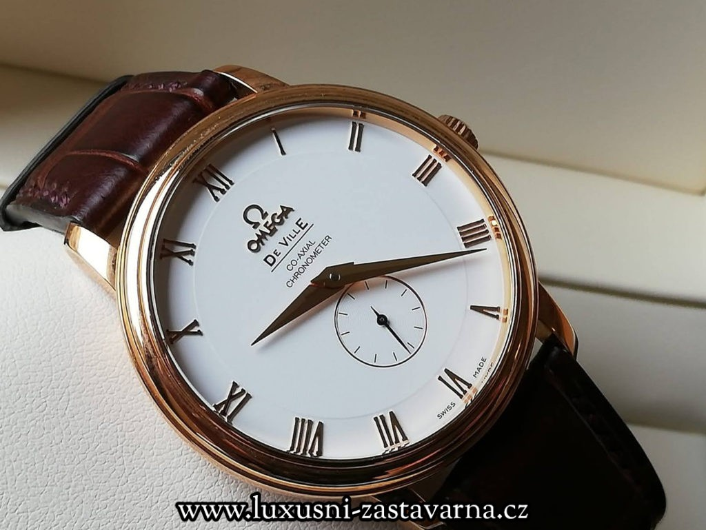 zlaté hodinky od firmy Omega