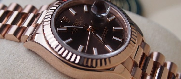 hodinky s datumovou funkcí Rolex Datejust v provedení z růžového zlata