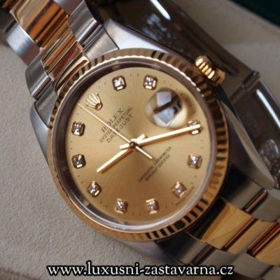 zlaté hodinky Rolex Oyster Perpetual Automatic dané do zástavy