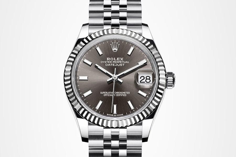 detail na jedny z nejprodávanějších modelů značky Rolex, model Datejust